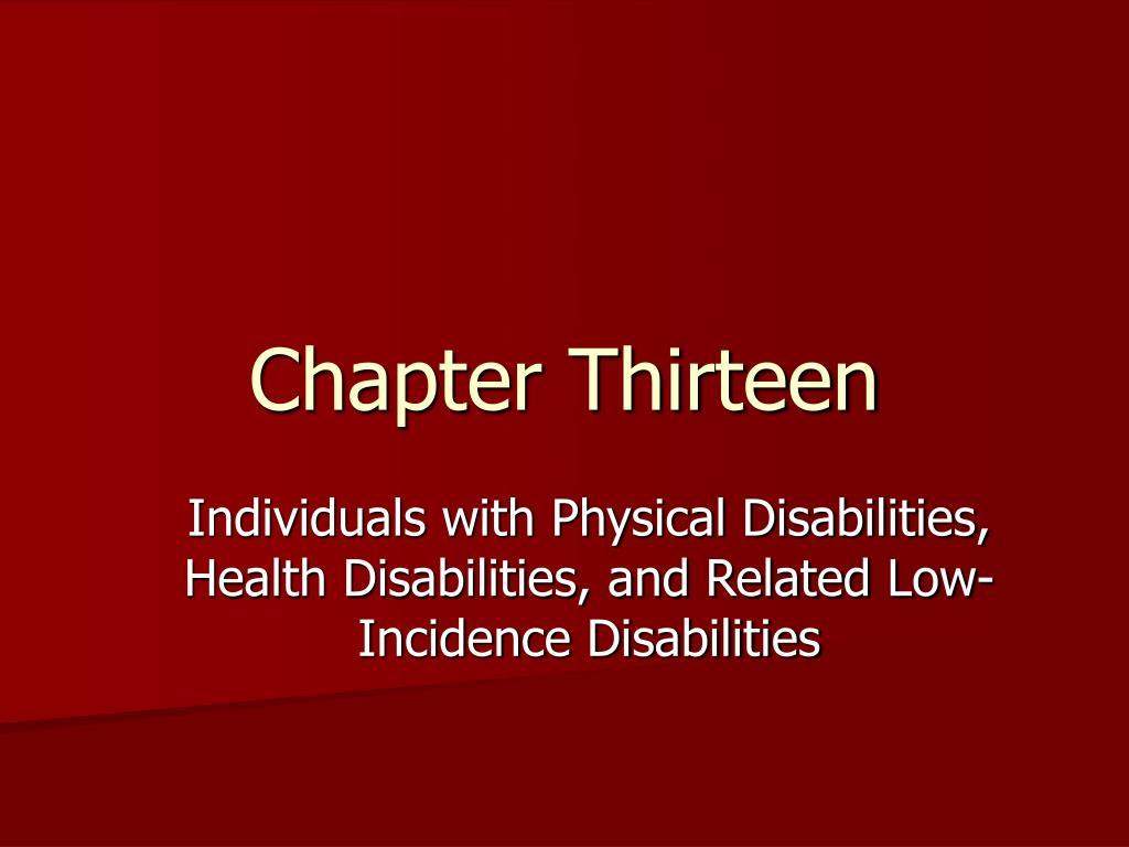 chapter thirteen l.