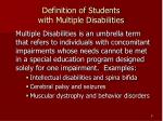 definition of students with multiple disabilities