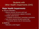students with other health impairments ohi