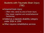students with traumatic brain injury tbi