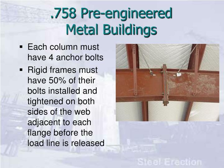 758 pre engineered metal buildings