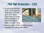 760 fall protection cdz
