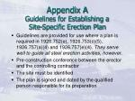 appendix a guidelines for establishing a site specific erection plan