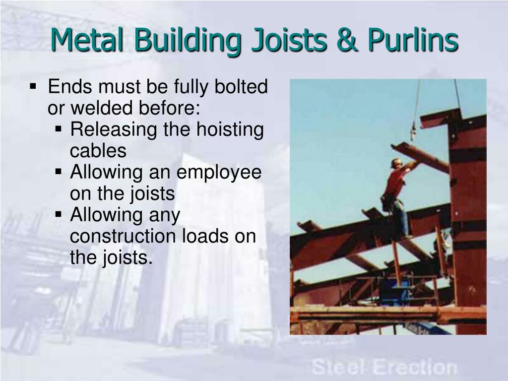 Metal Building Joists & Purlins