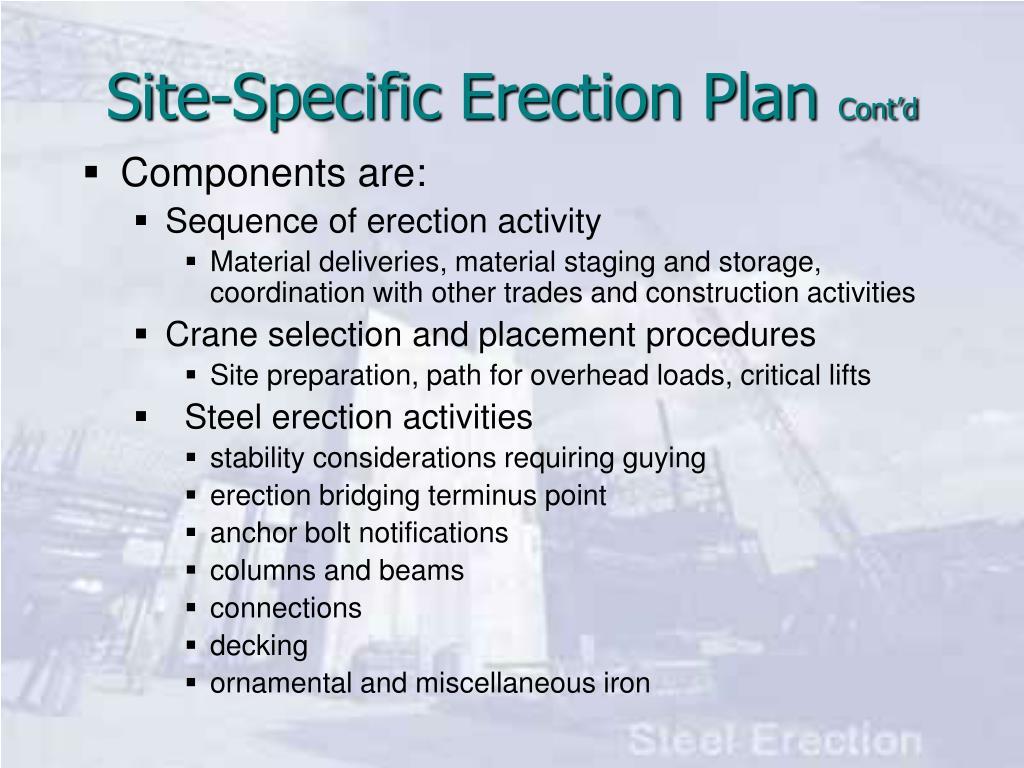 Site-Specific Erection Plan