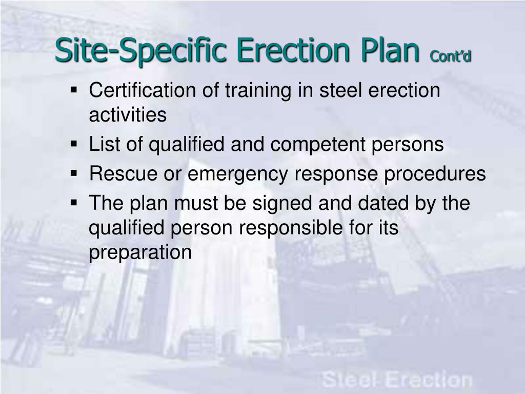 Certification of training in steel erection activities