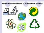 domu kartes elementi atpaz stami simboli