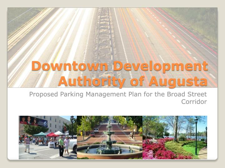 downtown development authority of augusta n.