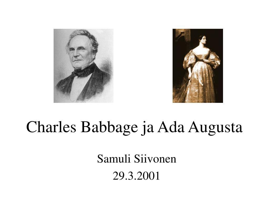charles babbage ja ada augusta l.