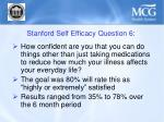 stanford self efficacy question 6