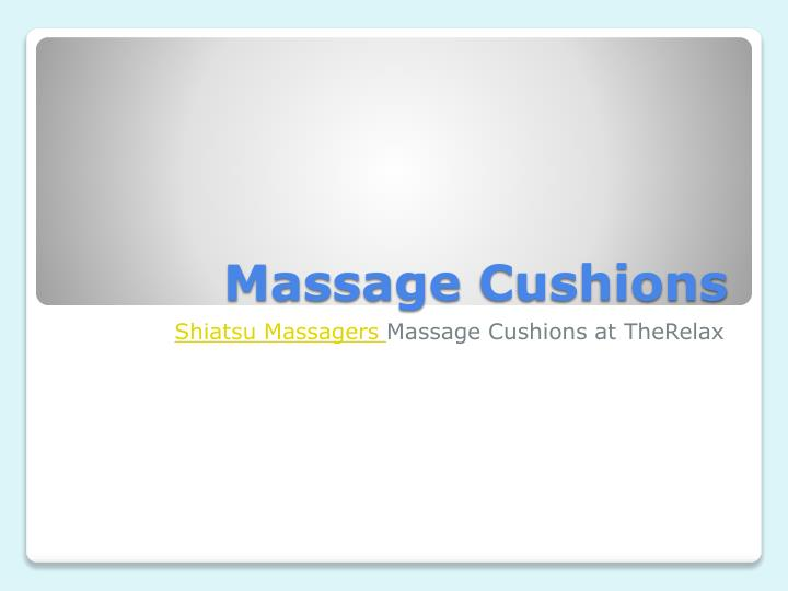 massage cushions n.