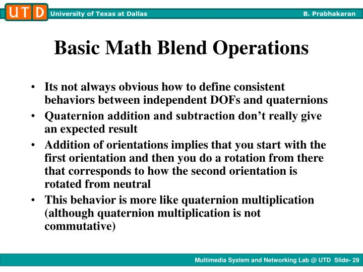 Basic Math Blend Operations