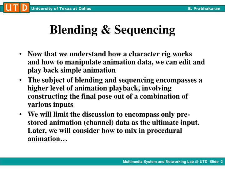 Blending sequencing