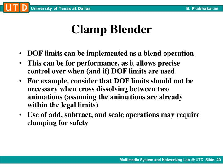 Clamp Blender