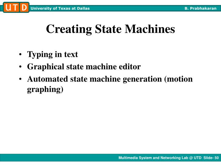 Creating State Machines