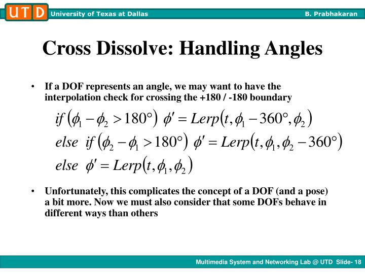 Cross Dissolve: Handling Angles