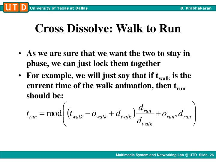 Cross Dissolve: Walk to Run