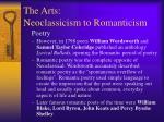 the arts neoclassicism to romanticism2