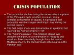 crisis population
