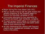 the imperial finances