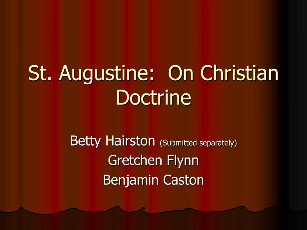 st augustine on christian doctrine l.