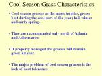 cool season grass characteristics