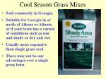 cool season grass mixes