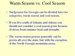 warm season vs cool season