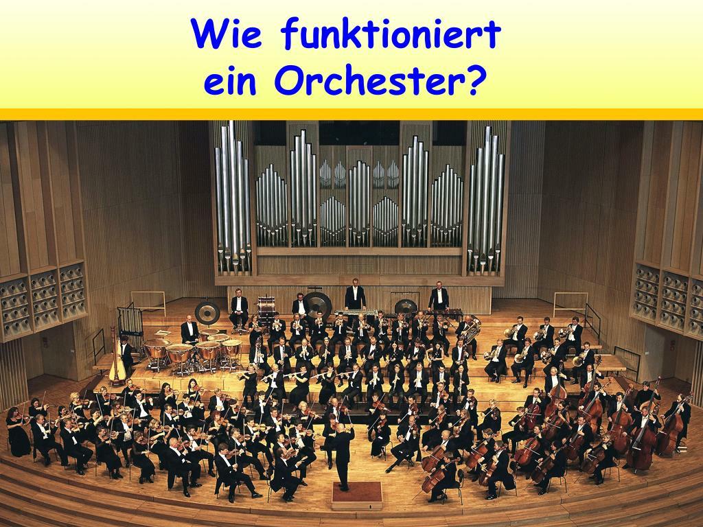 wie funktioniert ein orchester l.