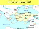 byzantine empire 780