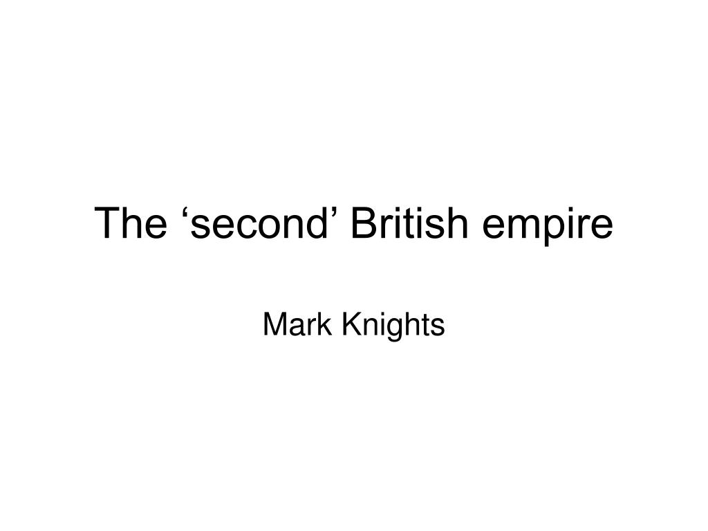 the second british empire l.