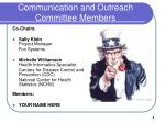 communication and outreach committee members