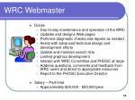 wrc webmaster