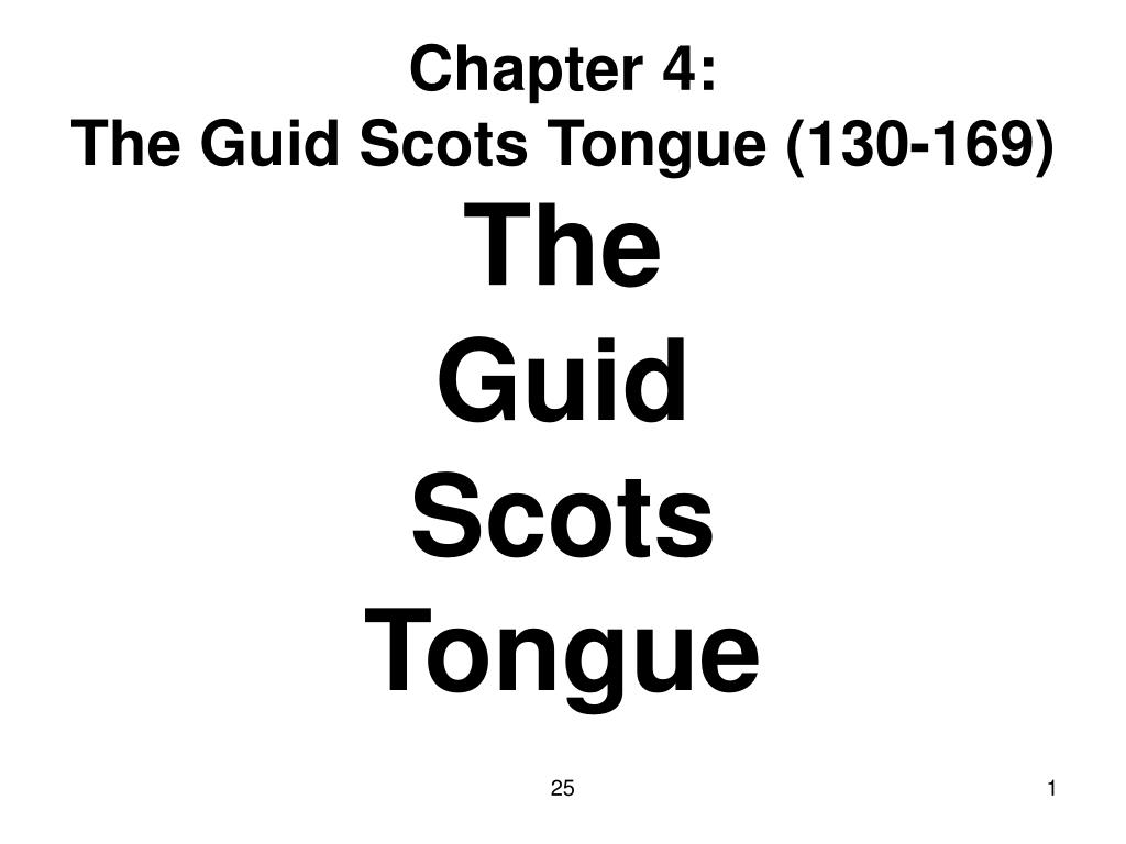chapter 4 the guid scots tongue 130 169 l.