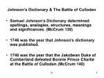 johnson s dictionary the battle of culloden