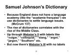 samuel johnson s dictionary