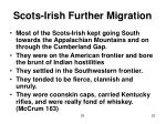 scots irish further migration