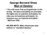 george bernard shaw man of destiny