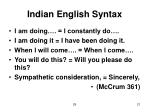 indian english syntax