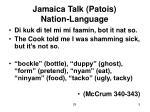 jamaica talk patois nation language