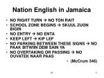 nation english in jamaica