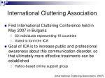 international cluttering association