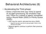 behavioral architectures 6