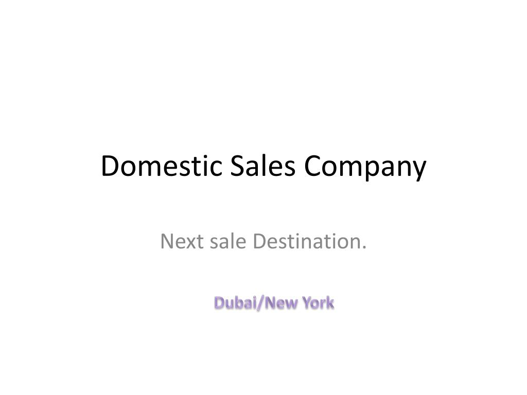 domestic sales company l.