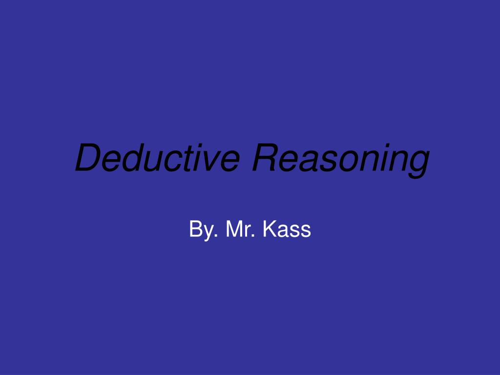 deductive reasoning l.