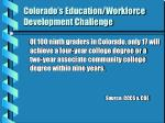 colorado s education workforce development challenge