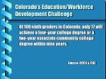colorado s education workforce development challenge