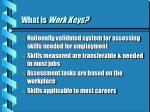 what is work keys