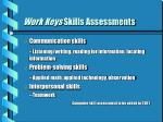 work keys skills assessments