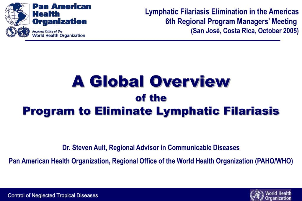a global overview of the program to eliminate lymphatic filariasis l.